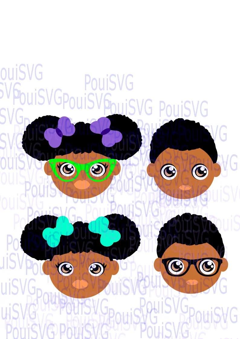 Download African American kids svg Black kids svgvinyl t-shirt design