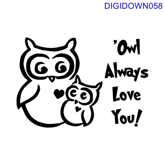 Download Owl Always Love You w/Two Owls SVG Cut File mtc svg pdf