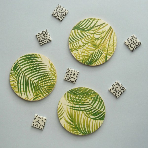 Handmade Ceramic Tile Coasters. Unique & by Tilissimo on Etsy