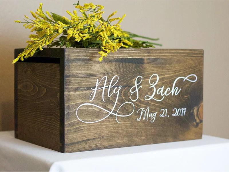 Wedding Card Box Money Box Rustic Wedding Rustic Card Box