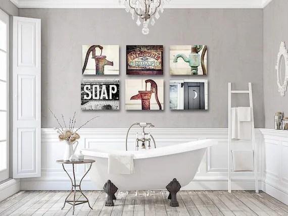 Farmhouse Bathroom Decor Bathroom Wall Decor Rustic Sets For