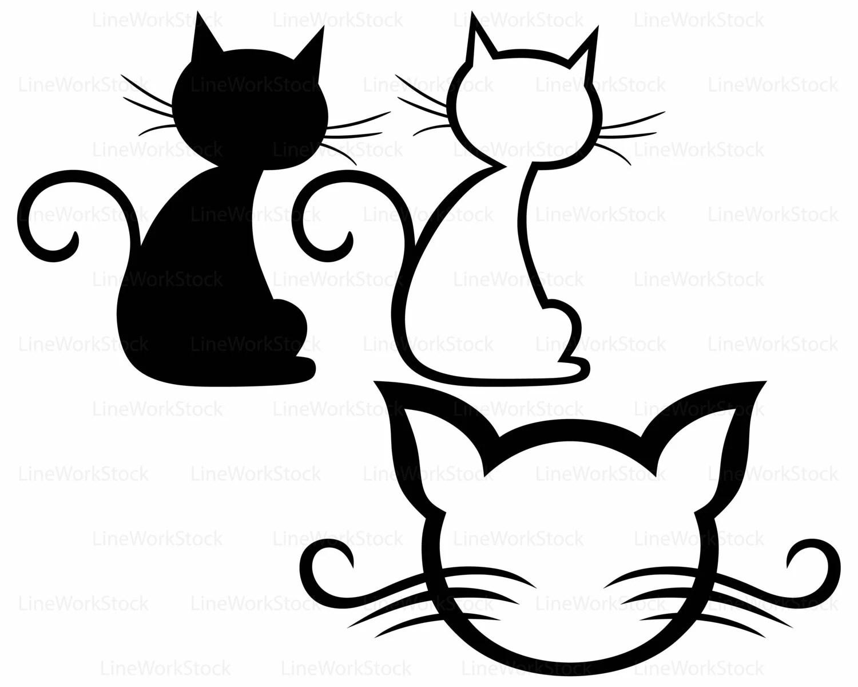 Cat Svgcat Clipartcat Svgcat Silhouettecat Cricutcat Cut