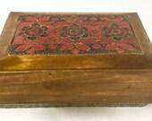 Vintage Wood Trinket Box ...