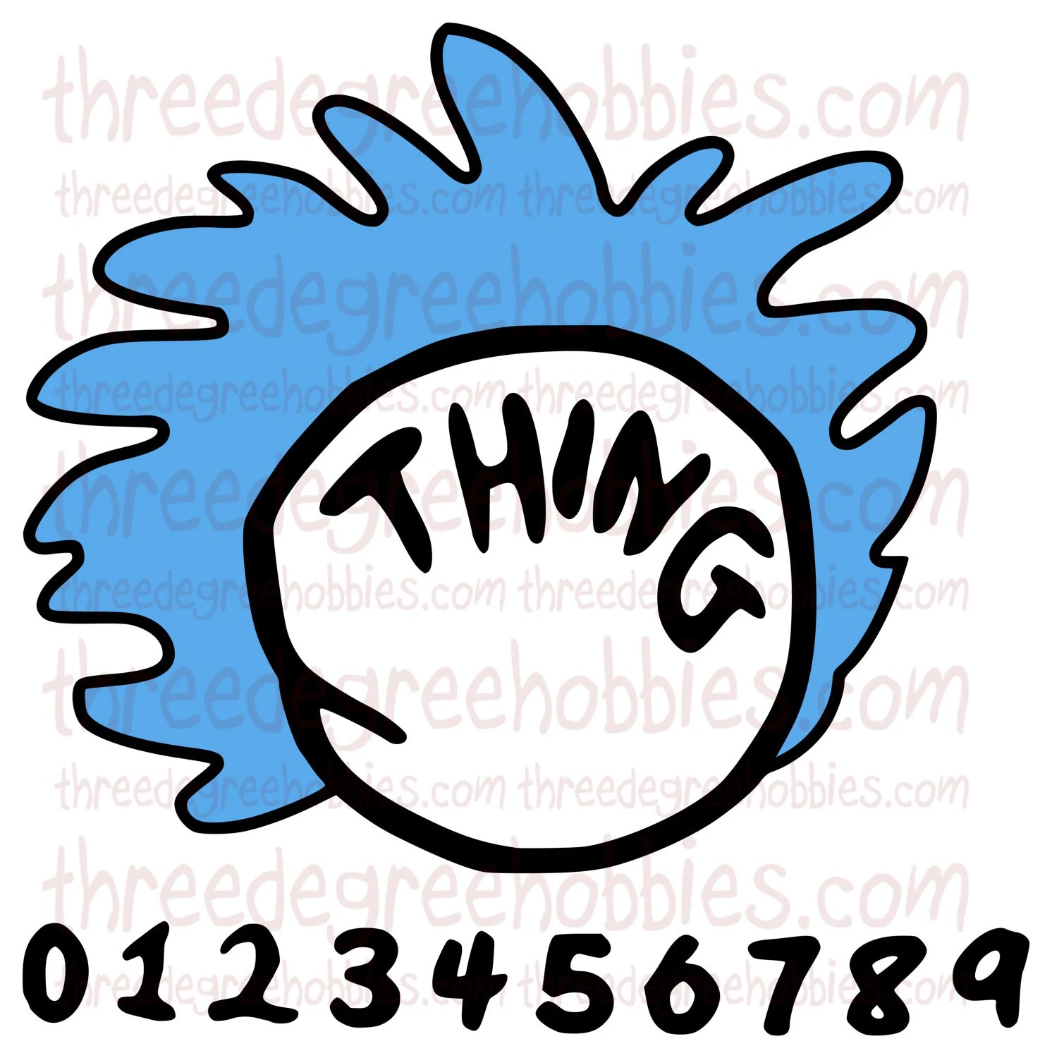 Digital Download Dr Seuss Thing 1 With Hair With All Numbers