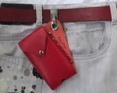 Cell Phone Pouch, Leather...