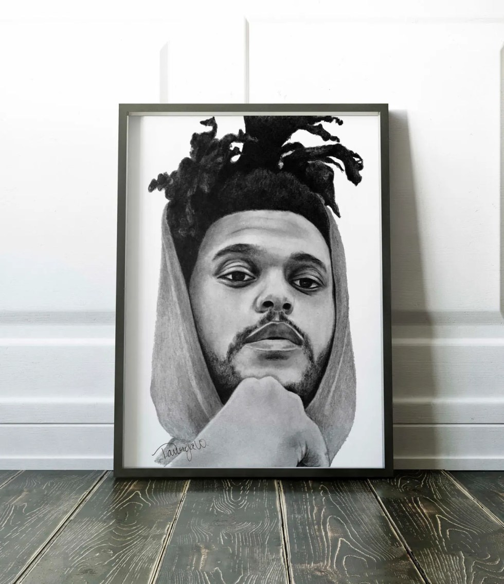 The Weeknd Drawing. 8x10 ...