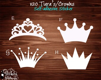 Crown Wall Decal Etsy
