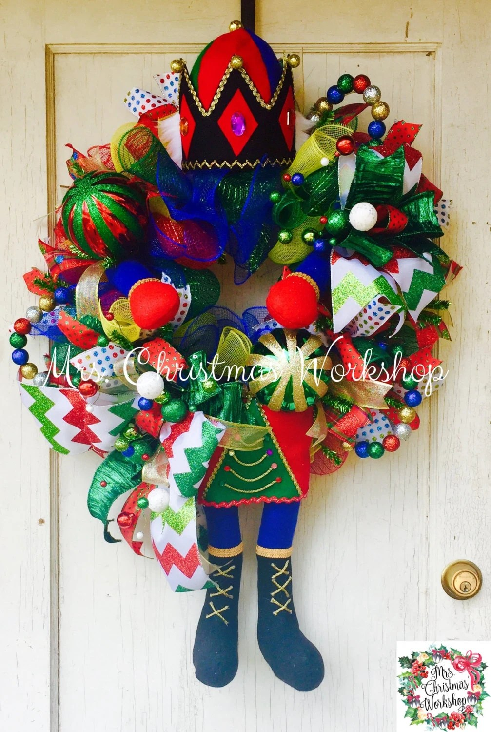Christmas Wreath Nutcracker Wreath Toy Soldier Wreath Deco