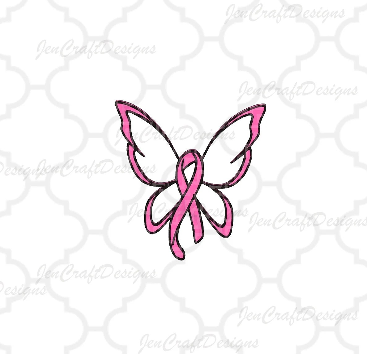 Breast Cancer Ribbon Butterfly Svg Cut File