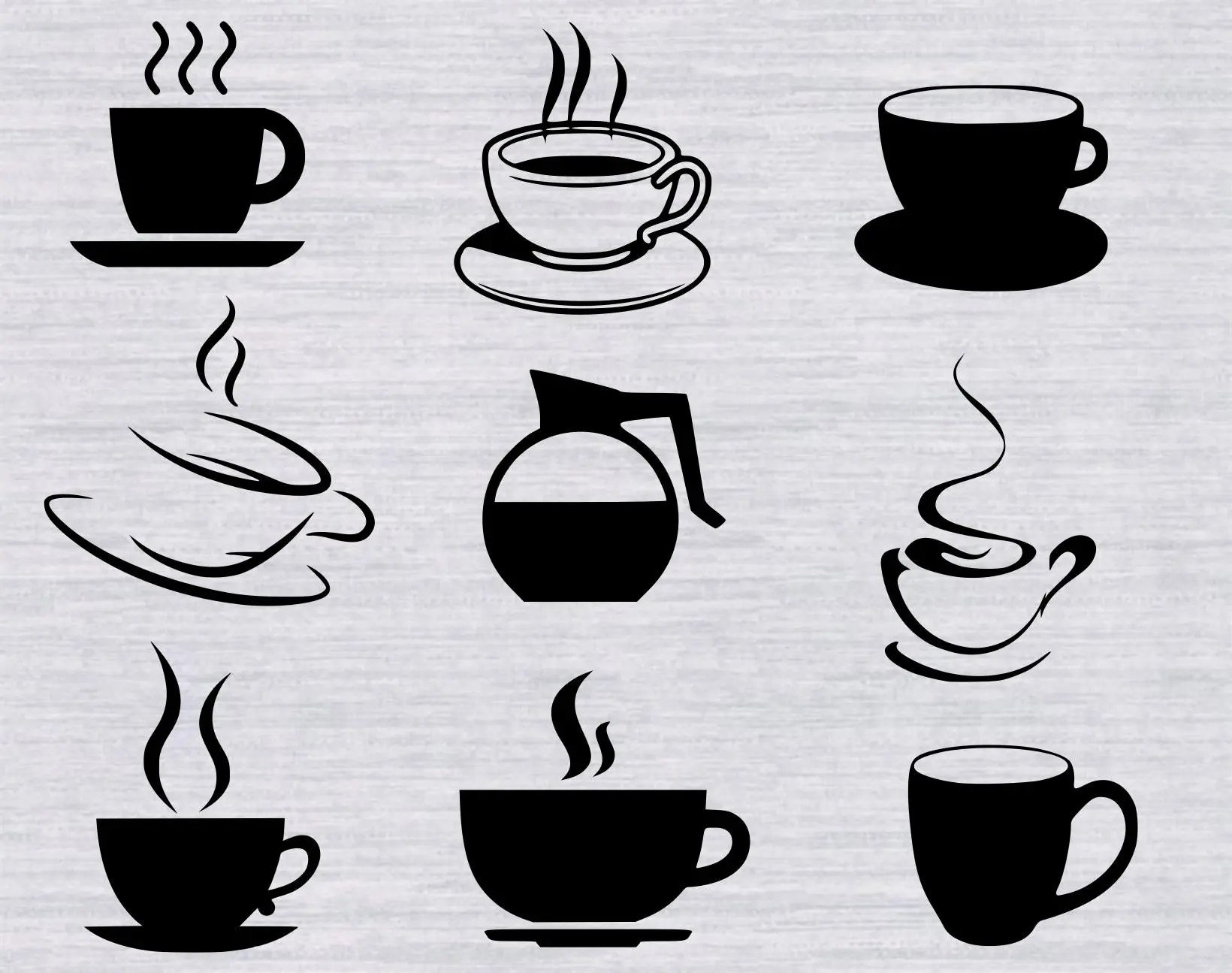 Coffee Svg Bundle Coffee Svg Files Coffee Cup Svg Kitchen Svg Svg Files For Silhouette