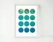 OCEAN WALL ART - Abstract...