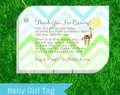 Baby Shower Favor Tag - J...