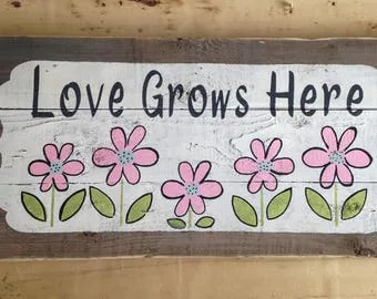 Download Love grows stencil   Etsy