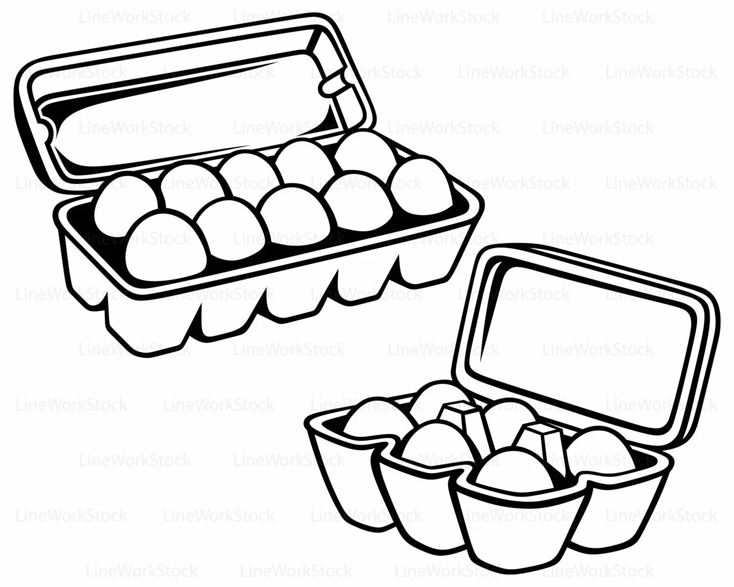 Eggs Package Svg Food Clipart Egg Svg Package Silhouette