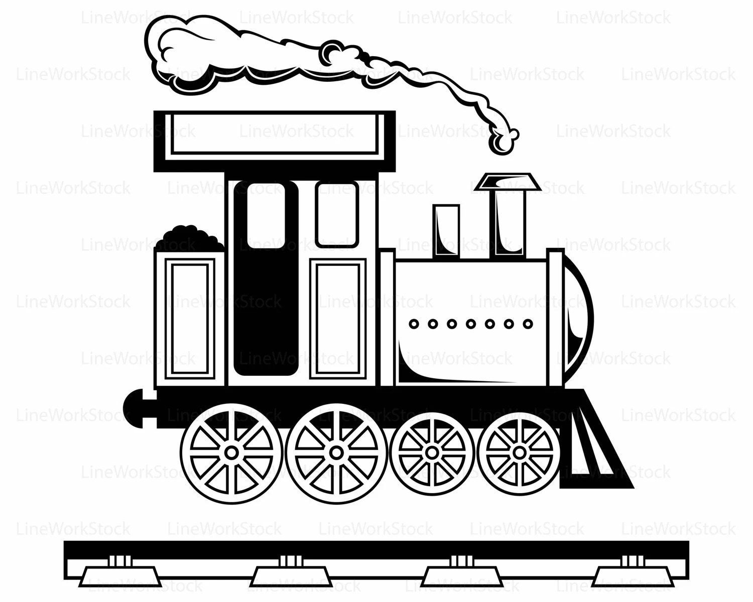 Locomotive Svg Train Clipart Train Svg Silhouette Toy