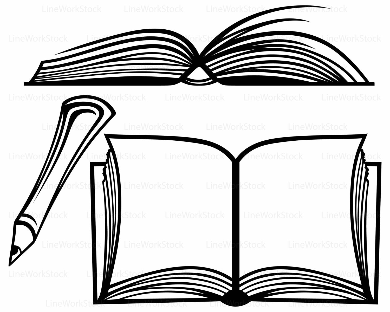 Open Book Svg Book Clipart Book Svg Open Book Silhouette