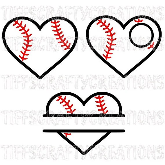 Download baseball heart svg love baseball svg baseball svg softball