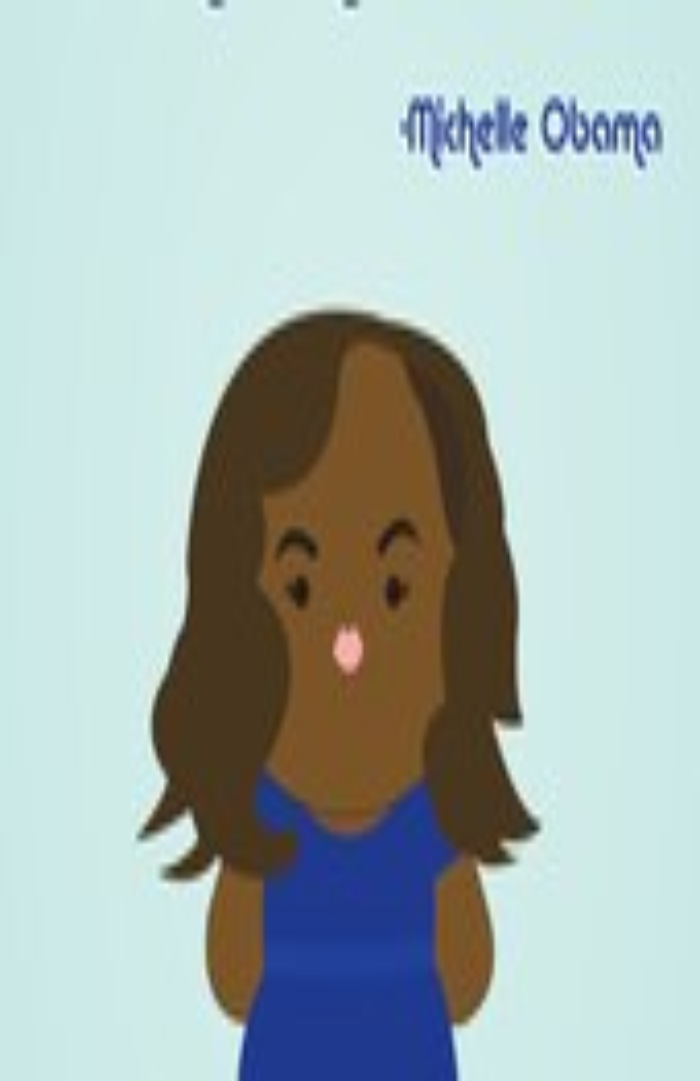 Michelle Obama kawaii art...