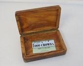 Vintage wooden box, olive...