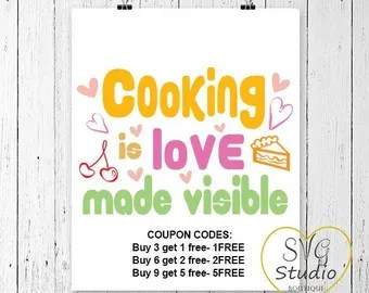 Download Cooking is love | Etsy