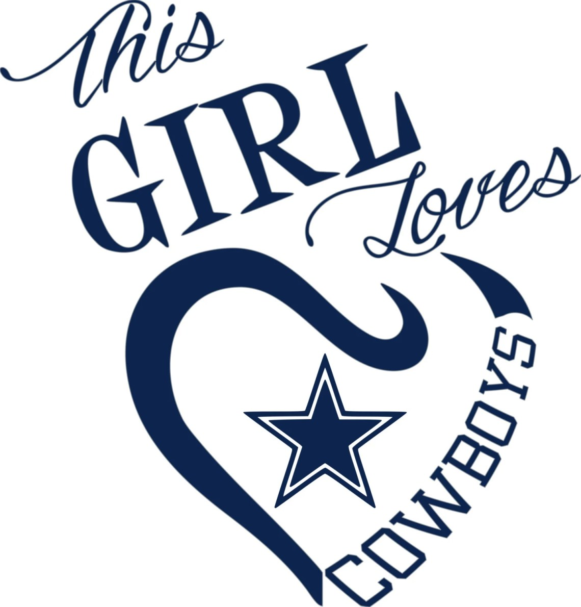 Download This Girl Loves Dallas Cowboys SVG File