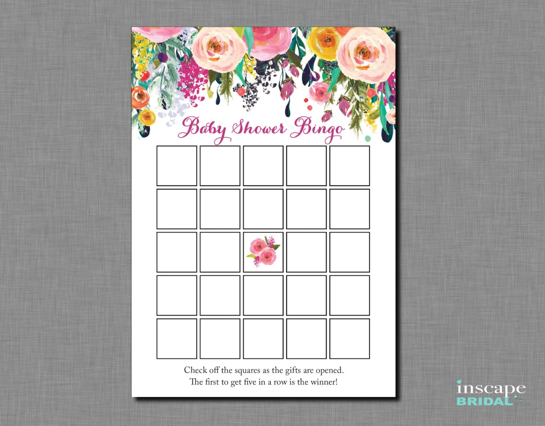 Baby Shower Bingo Printable Blank Bingo Game In 2 Sizes