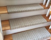 Mulberry - TRUE Bullnose™ Carpet Stair Tread – Beaulieu - Scotchgard™ - Pet Dog Cat - Odor Eliminator - Magic Fresh® - (Sold Individually)