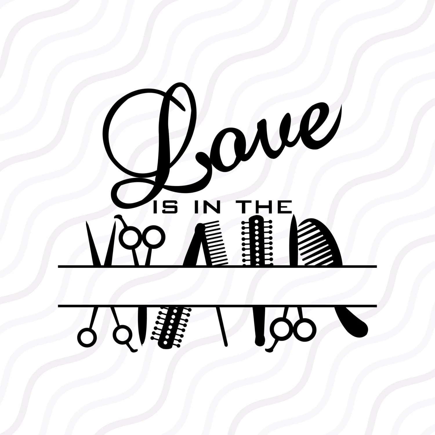 Love In The Hair Svg Salon Svg Hairdresser Monogram Svg Cut