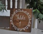 Wedding Table Numbers, Wo...