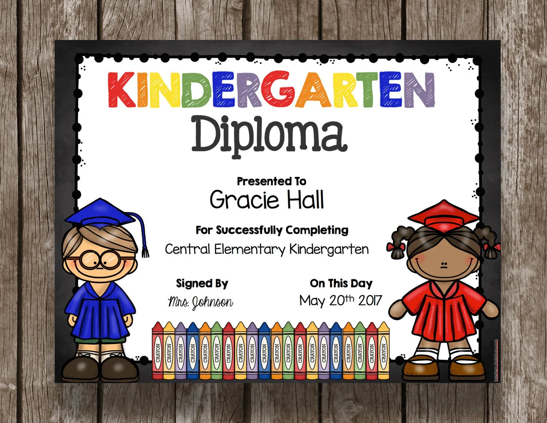 50 Off Sale Kindergarten Diploma Graduation Printable