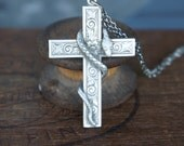 Ornate Cross with Snake S...