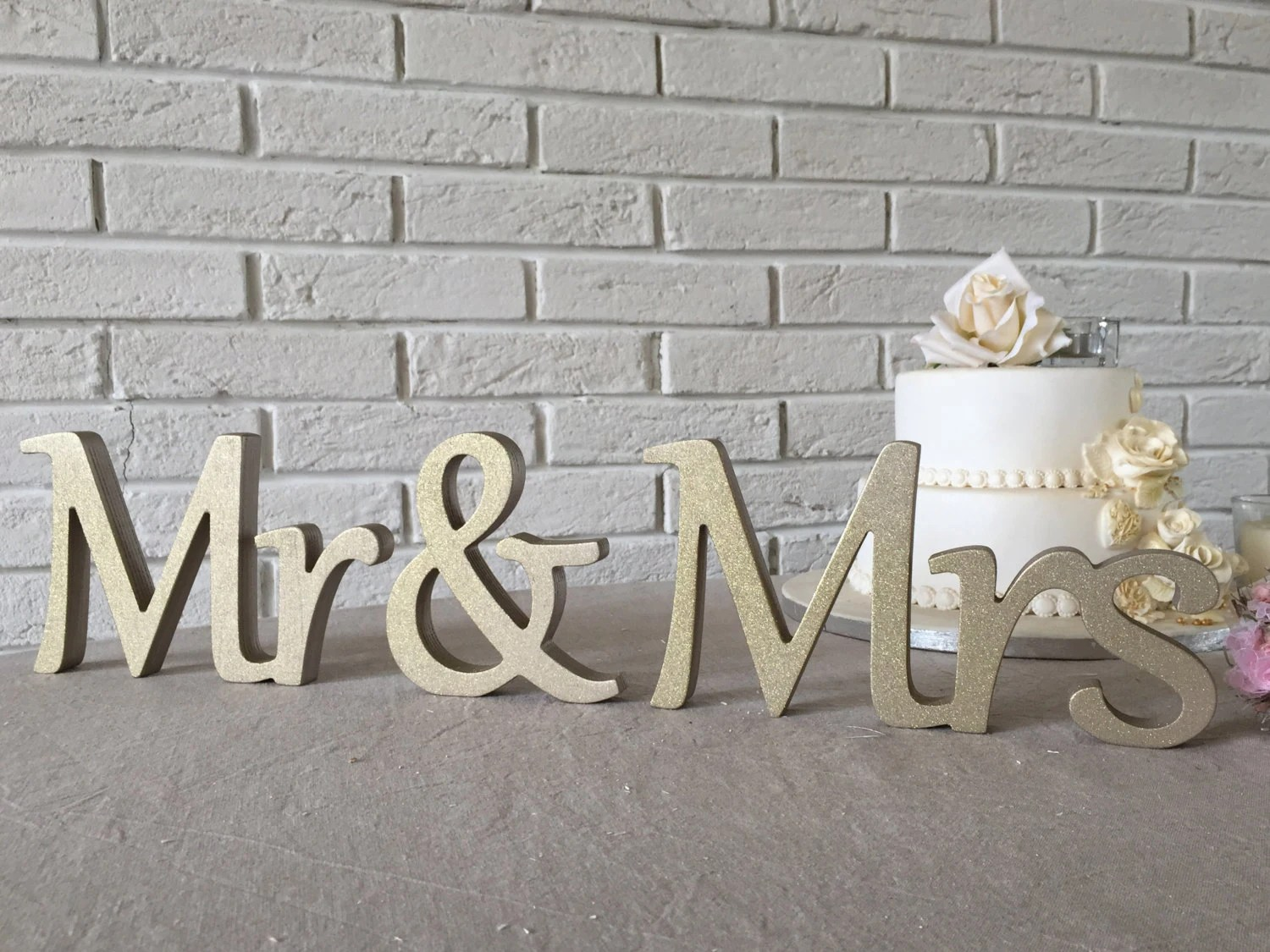 Sweetheart Table Mr. And. Mrs... Sign Set. Wedding Sign Set