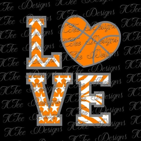 Download Items similar to Love Basketball - Basketball Mom - SVG ...