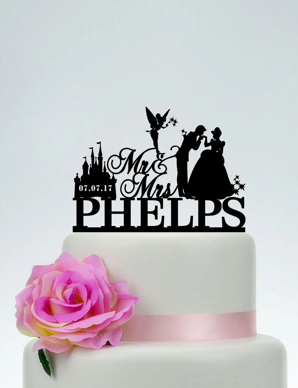 Disney Wedding Cake TopperMr And Mrs Cake Topper With