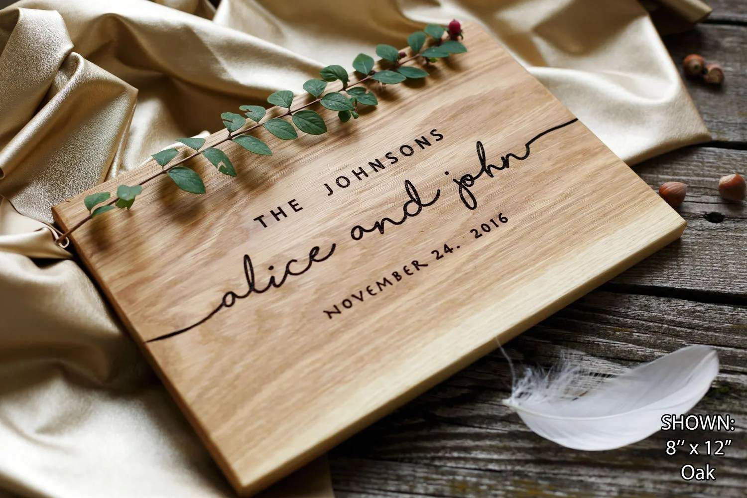 Wedding Gift Personalized Cutting Board Gift For Couple Unique