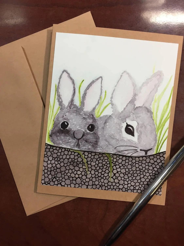 Garden Rabbit Easter Note...