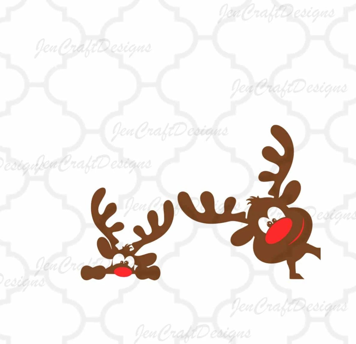 Download Peeping Christmas Reindeer set Peeking SVG,EPS Png DXF ...