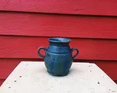 Blue Striped Vase with Ha...