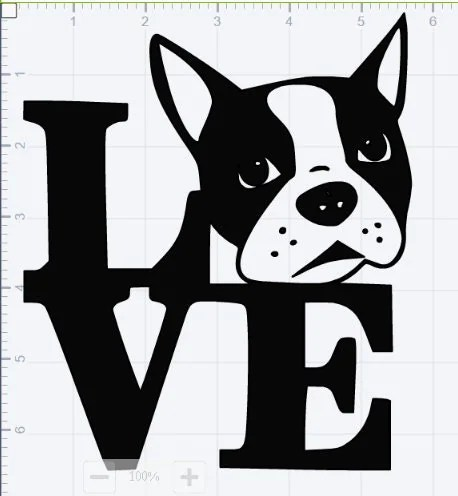 Download Boston Terrier Love SVG EPS DXF Studio 3 Cut Files from ...
