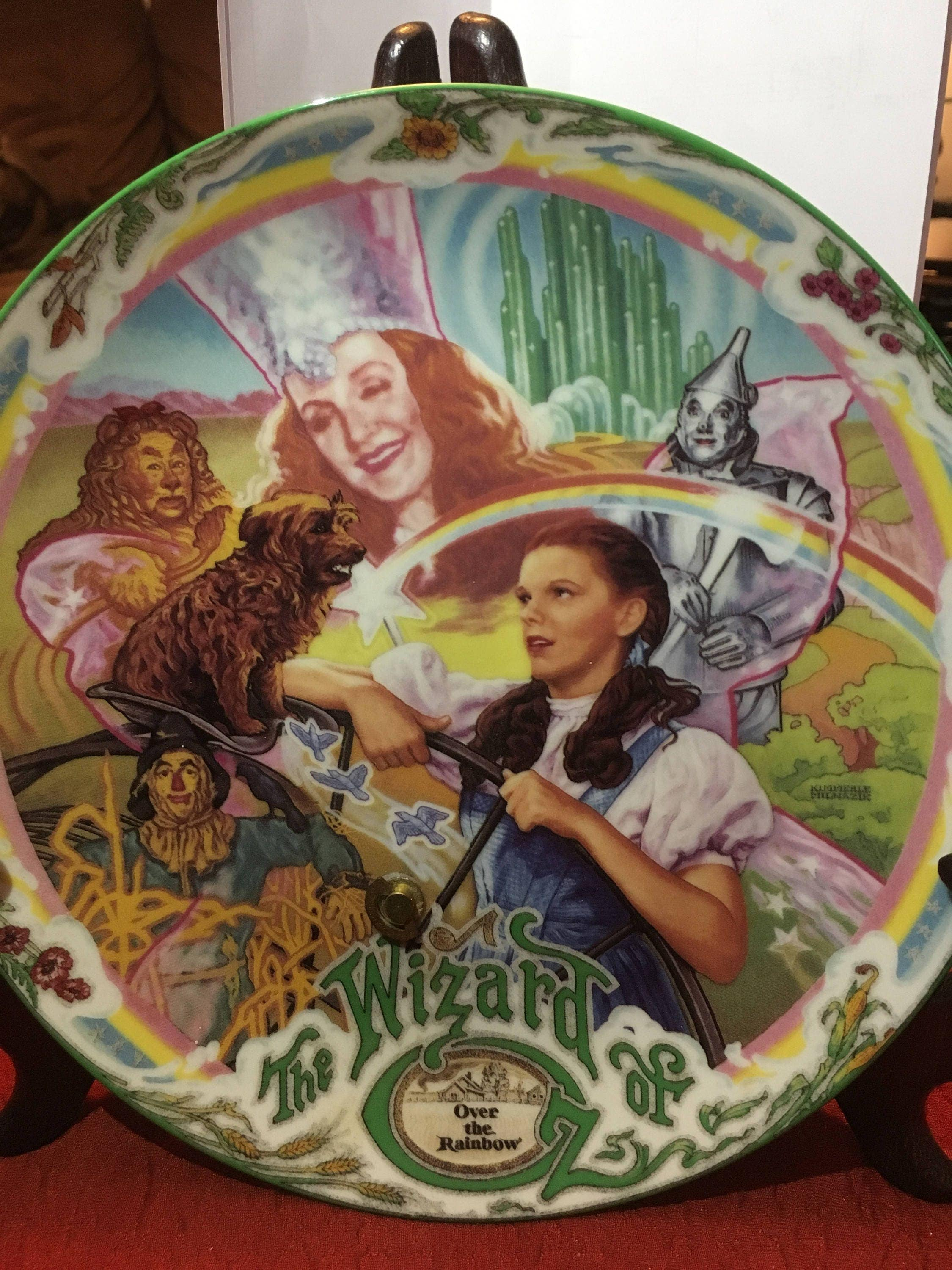 Over The Rainbow Wizard Of Oz Musical Plate