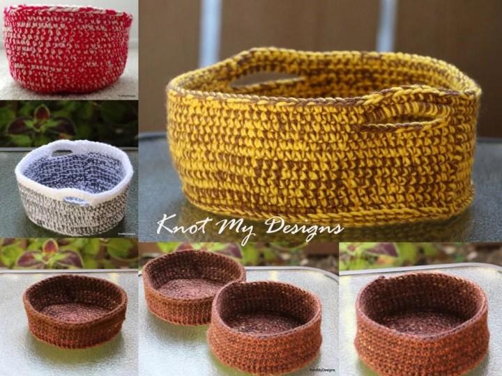 Crochet 2-Yarn Side Table...