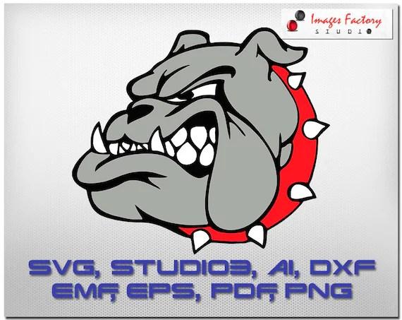 Download Bulldog head , cuttable Cricut Design Space , Silhouette ...