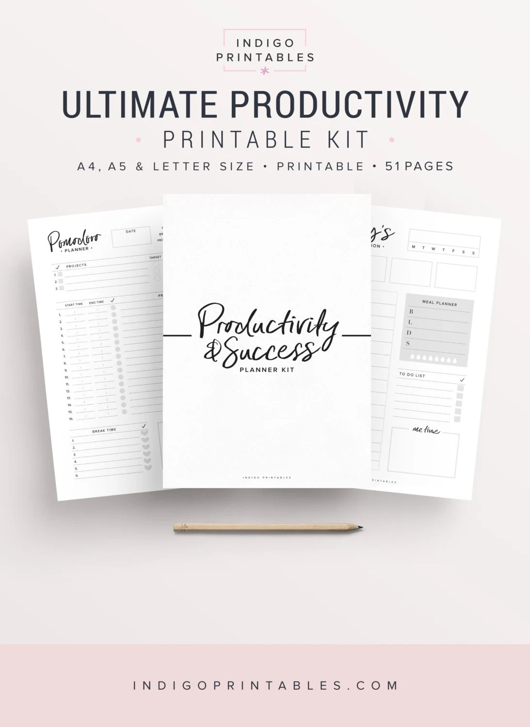 Productivity Planner Goal Planner Success Printable Planner