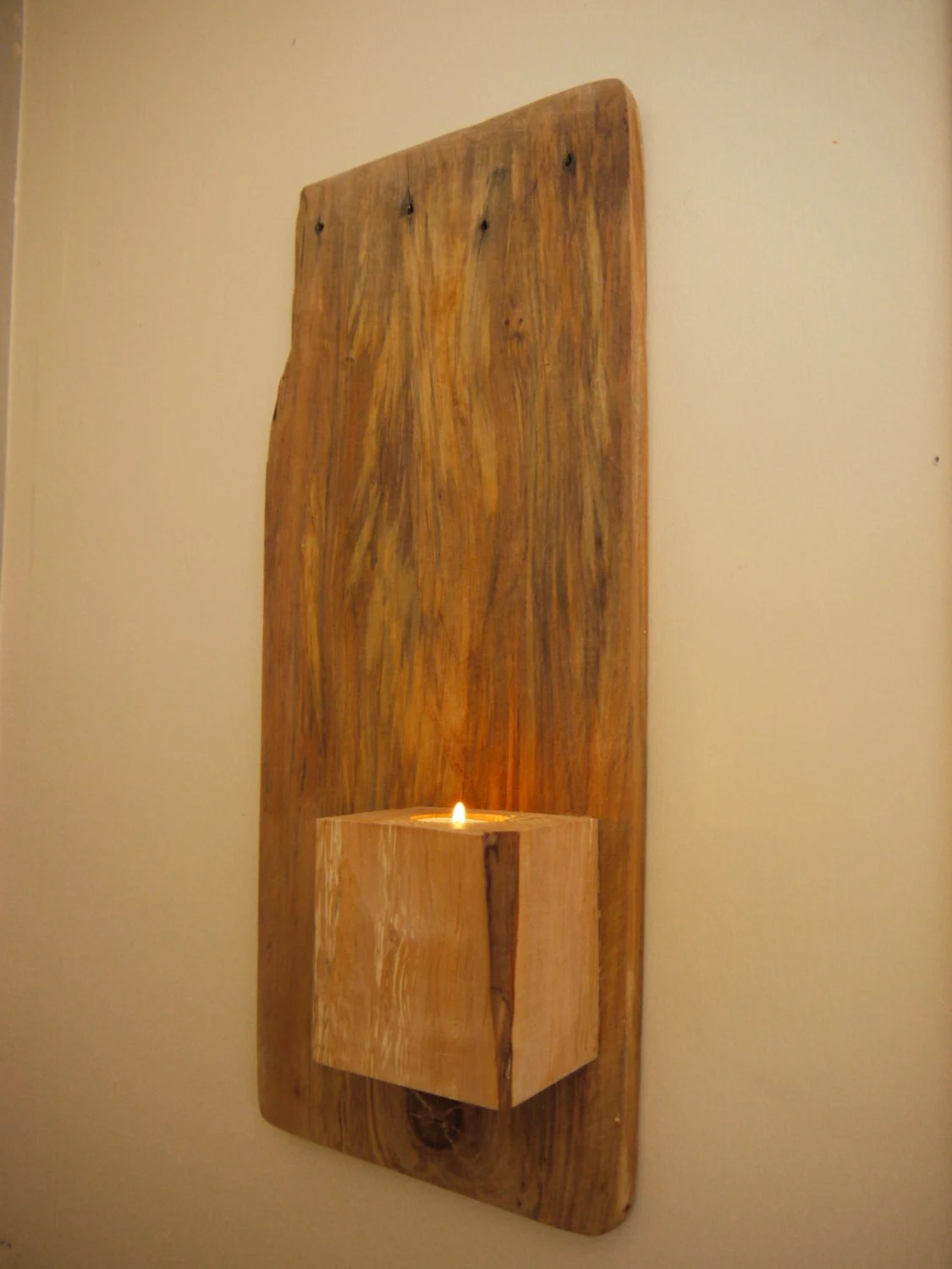 Wall Mounted Candle Holder. Wall Art. Rustic Wall Candle on Wall Mounted Candle Holder id=20302
