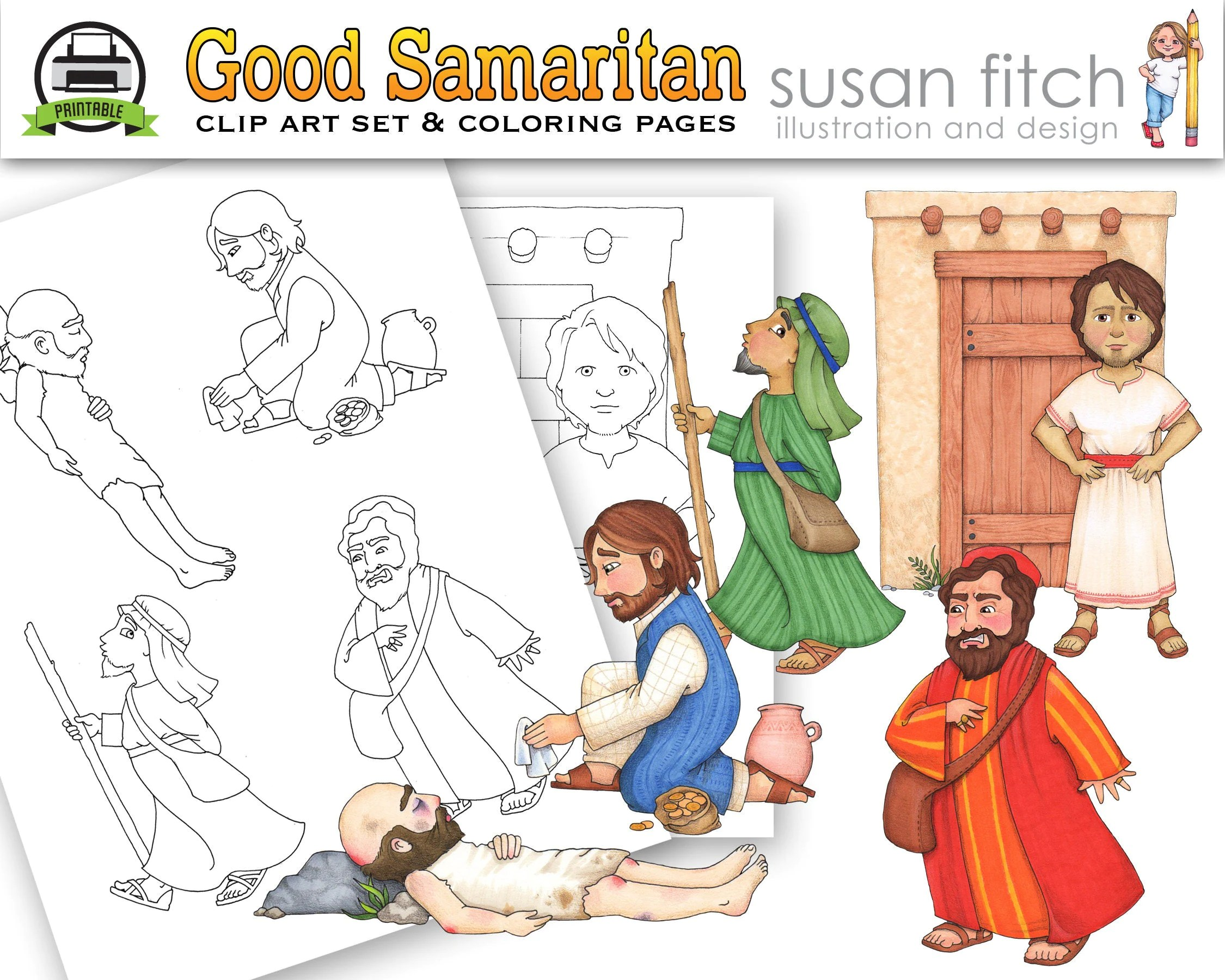 Good Samaritan Clip Art Amp Coloring Pages