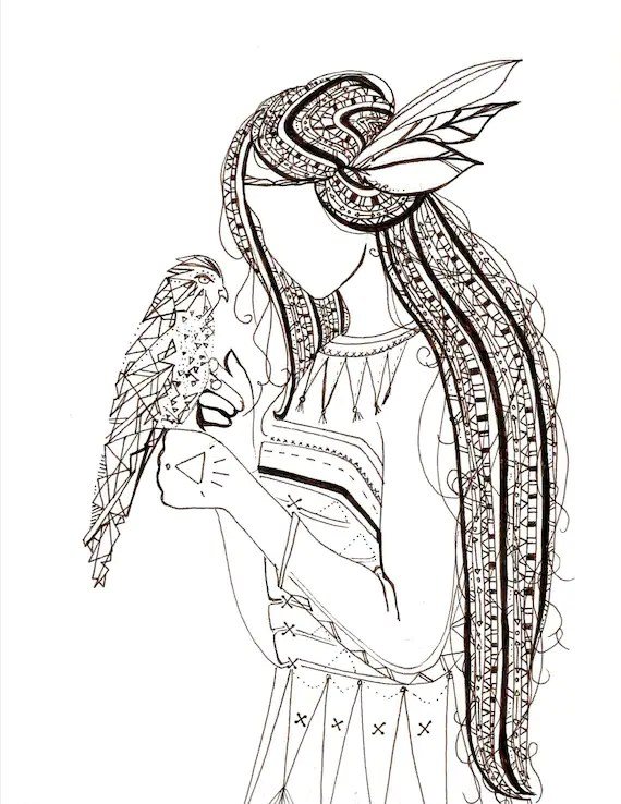 items similar to printable adult coloring page native