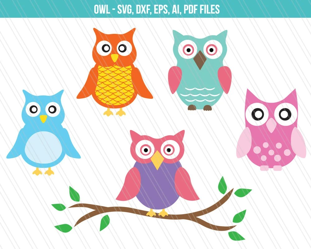 Download Owl SVG cutting files Owl dxf Owl vector Cricut cutting