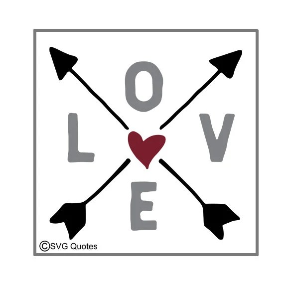 Download Love Arrows SVG DXF EPS Cutting File For Cricut Explore ...