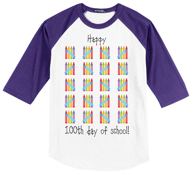 100th Day Of School Raglan T Shirt