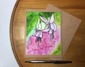 Fuschia Flowers Original ...